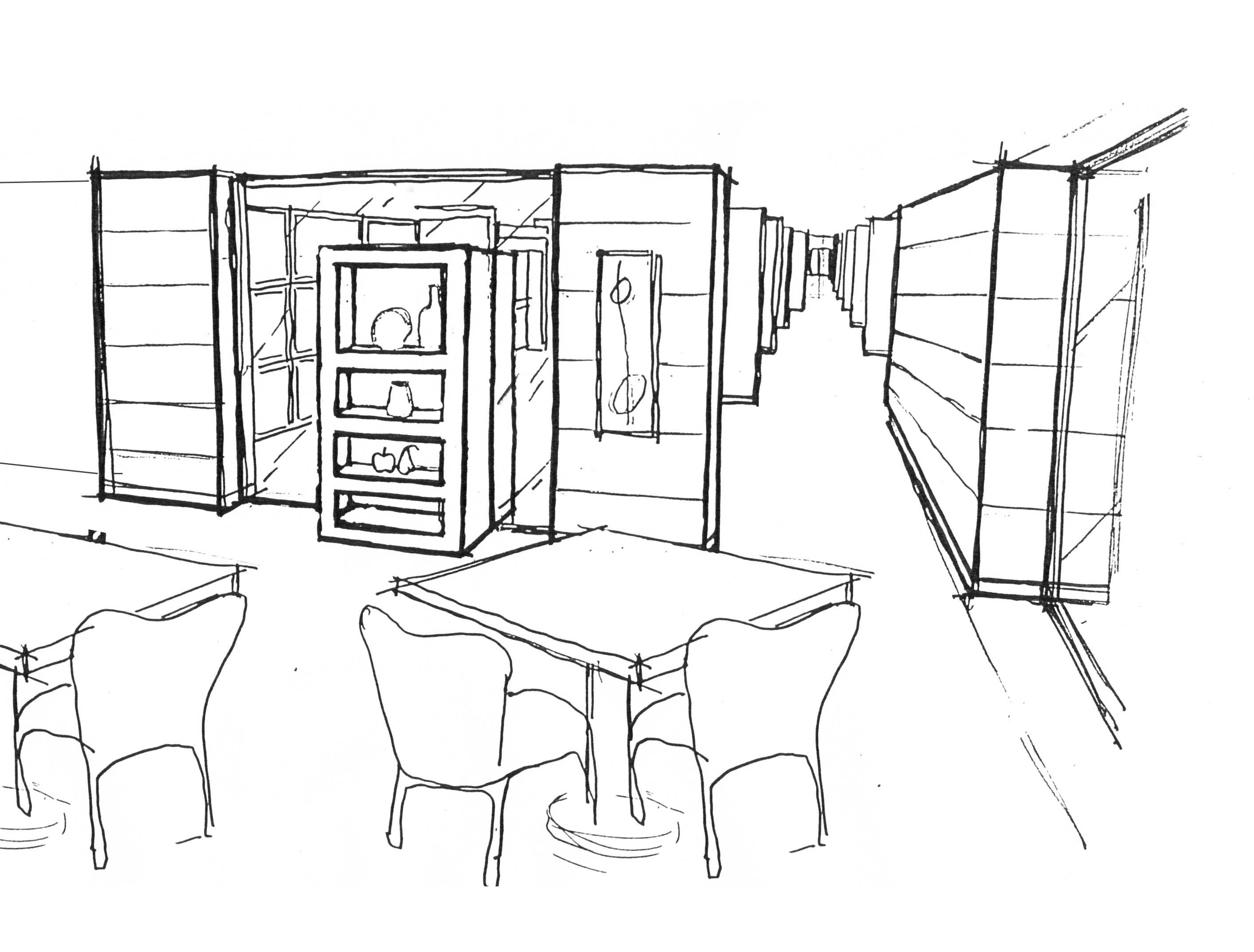 Restaurant eingerichtet